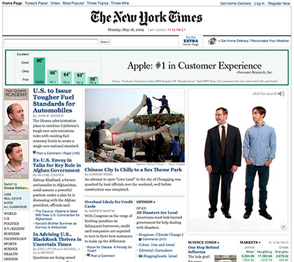 Apple's 2009 New York Times May 18th On-line Ad