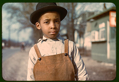 John Vachon's photo 'Negro boy near Cincinnati, Ohio'